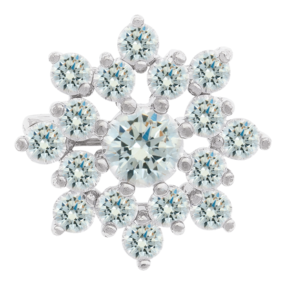 Picture of Rhodium Plated Brooch Jewellery (BH8834)