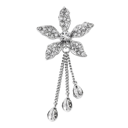 Picture of Rhodium Plated Brooch Jewellery (BH8851)