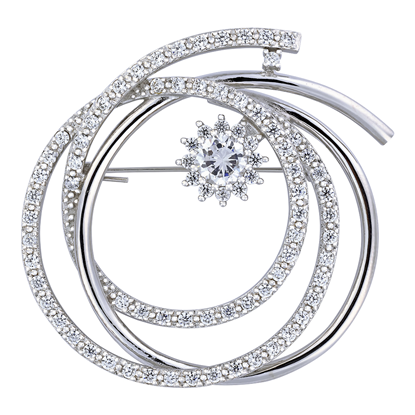 Picture of Rhodium Plated Brooch Jewellery (BH8891)