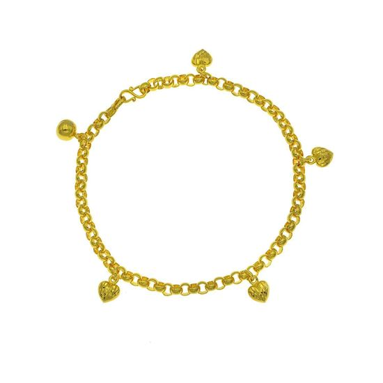 Picture of Gold Plated Anklet Jewellery for Children (AL8941)