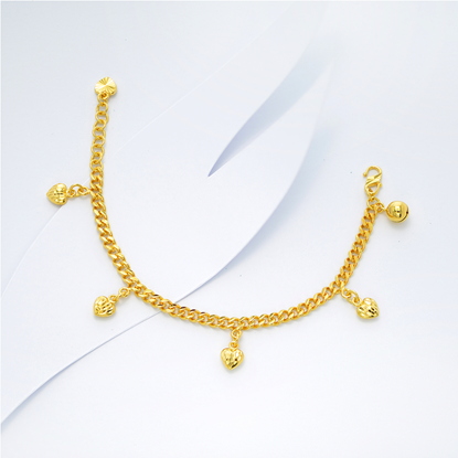 Picture of Gold Plated Bracelet Jewellery for Children (BT8945)