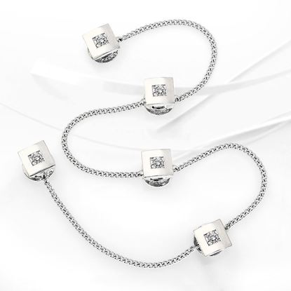 Picture of Rhodium-plated Baju Melayu Buttons (BM8837)