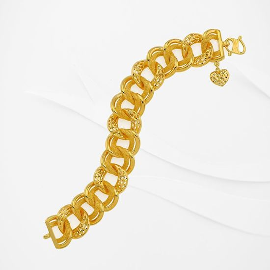 Picture of Gold Plated Bracelet Jewellery  (Rantai Tangan Coco-Donut) (BT8966)