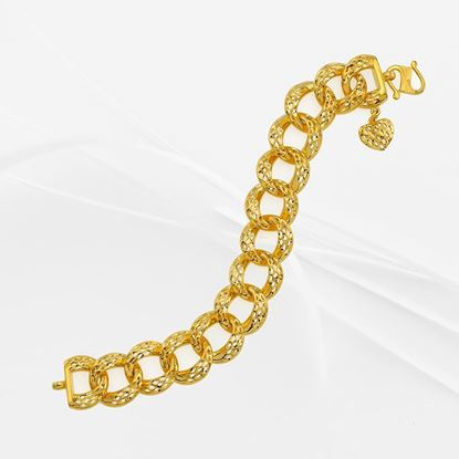Picture of Gold Plated Bracelet Jewellery  (Rantai Tangan Donut Italia) (BT8968)