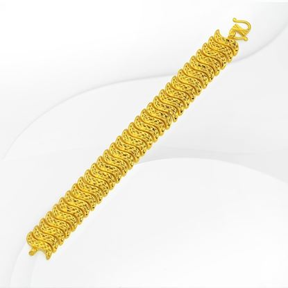 Picture of Gold Plated Bracelet Jewellery  (Rantai Tangan Pulut Dakap Sherra) (BT8991)