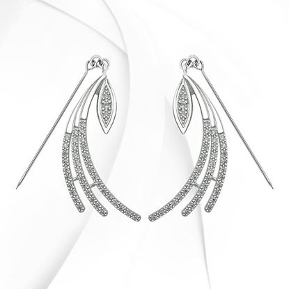 Picture of Rhodium Plated Earrings Jewellery (ER9005)