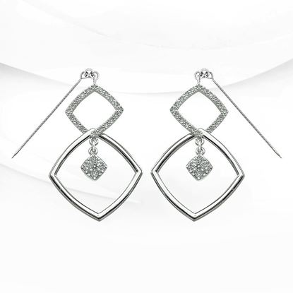 Picture of Rhodium Plated Earrings Jewellery (ER9006)