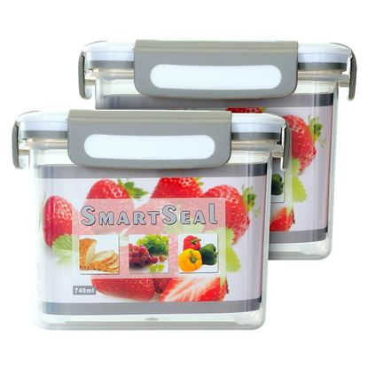 Picture of SMARTSEAL AIRTIGHT FOOD CONTAINERS (2 x 740ML)